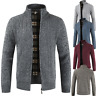 Winter Men's Stand Collar Sweater Coat Warm Thicken Zipper Cardigan Outerwear