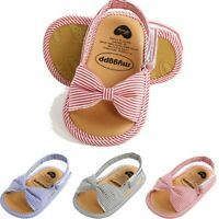 Toddler Infant Kids Baby Girls First Walkers Bowknot Shoes Open Toe Sandals Shoe