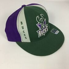 Milwaukee Bucks NBA Basketball Reebok Fitted Hat 7.5 Multi-Colored - 100% Wool