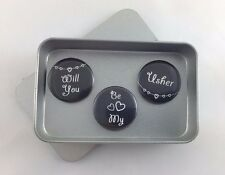 Wedding 'Will You Be My Usher' Magnet Gift Set