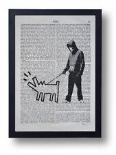 Banksy Choisissez Votre Arme Art Imprimé sur Old Antique Book Page