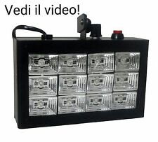 FARO LUCE STROBOSCOPICA DA DISCOTECA DJ LAMPADA EFFETTO 12 LED RGB STROBO FONT6