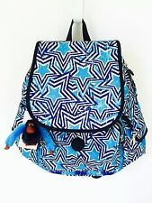 NEW KIPLING RAVIER FRONT FLAP BACKPACK WITH ORGANIZER PANEL AMERICA POP PRINT