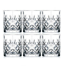 RCR Melodia Set of 6 Italian Crystal 23cl Whiskey Tumbler Glasses