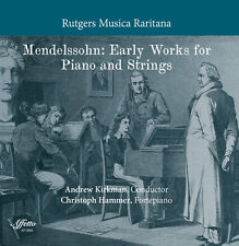 Mendelssohn / Hammer - Mendelssohn: Early Works for Piano & Strings [New CD]
