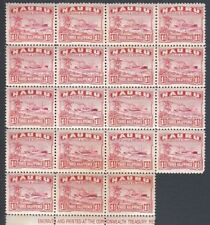 Stamps Nauru 1924 Century freighter ship 1&1/2d red part imprint block of 19 Muh