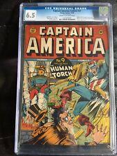CAPTAIN AMERICA COMICS #21 CGC FN+ 6.5; CM-OW; WWII bondage cover; rare!