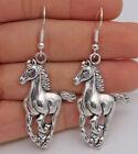 Elegant 925 Silver Women Drop Hook Horse Earring Anniversaries Jewelry Gift