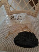 Whiting and davis mesh purse black, new, in original bag