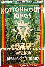 "KOTTONMOUTH KINGS ""420 FREEDOM FEST 2009"" SAN DIEGO CONCERT TOUR POSTER"