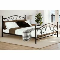Metal Bed Full Size Platform Bed Frame Bedroom Furniture W/ Headboard Footboard