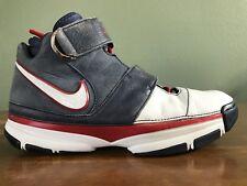b7b71bd9b8e 2007 Nike Zoom Kobe II 2 ST Strength USA Olympics White Blue Red Size 12