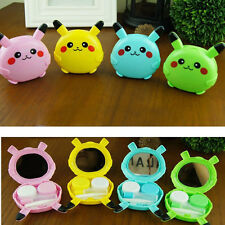 Travel Pokemon Candy Color Mini Contact Lens Box Case Holder Cute Mirror