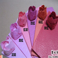 "New Candy Color 40pcs Sheets Origami Crane Folding Rose Paper 15cm (5.9"") Square"