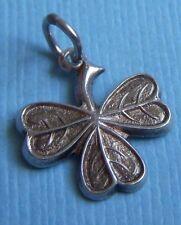 Vintage clover sterling charm