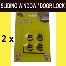 Baby Child Safe Safety Security Sliding Window Door Lock 8pcs