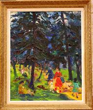 Tableau de 1948 Fernand Larue Bois de Vincennes Paris