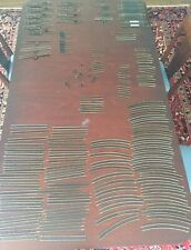 Lot of HO Atlas Snap Track Approx 140 Pieces 10 Switches