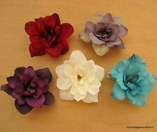 "5 Piece Lot 2.5"" Multi Apple Blossoms Flower Hair Clips,Wedding,Luau,Prom"