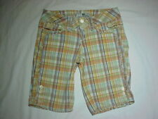 JOIE LOW RISE PLAID CAPRI SHORTS WOMENS SIZE S SMALL