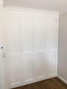 """Alpine 2.0"" 2pc Built In Wardrobe/Wall Unit Bedroom Furniture Hanging Robe"