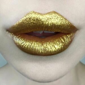 Kat Von D Everlasting Glimmer Veil Lipstick 'Gold Skool' Shimmering Gold NIB