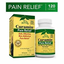 Terry Naturally Curamin Pain Relief 120 Capsules. Best By 4/2021 or Better