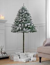6ft Green Snowy Half Christmas Tree