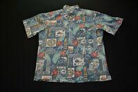 Reyn Spooner 06 Mele Kalikimaka Hawaiian Shirt Christmas 50th Anniversary Blue