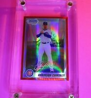 ROBINSON CHIRINOS 2010 Bowman Chrome RED REFRACTOR #d 1/5 SSP Rookie Rangers.