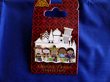 Disney * IT'S A SMALL WORLD * CASTLE & KIDS * New on Card Retired Trading Pin