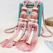 coral * Kravet Design Trim Single Tassel Tieback Bright blue pink yellow
