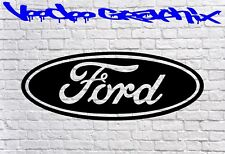 Ford Oval logo / badge car vinyl sticker decal fiesta mondeo focus st ANY COLOUR