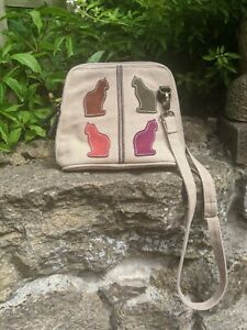 Suede Cats bag handcrafted By Anhandart Shoulder/Cross Body Bag