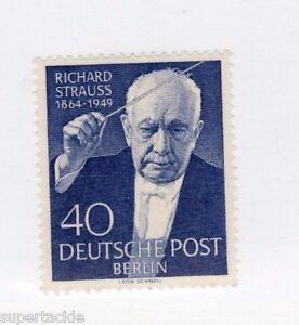 1954 Germany Sc #9N111 ** MNH VF Conductor Richard Strauss memorial stamp.