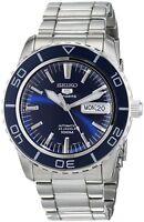 Seiko Men's SNZH53 Seiko 5 Automatic Dark Blue Dial Stainless Steel Watch