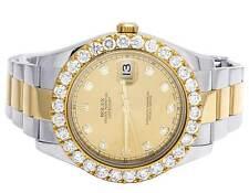 Mens Rolex Datejust II 116333 18K/ Steel Two Tone 41MM Oyster Diamond Watch 6 Ct