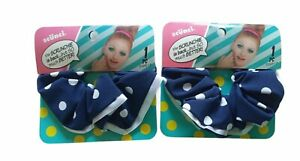 Scunci Women's All Hair Type 2x Blue Polka Dot Scrunchie Accessories