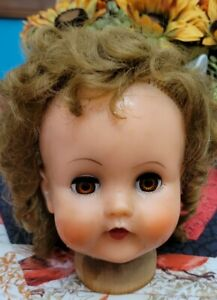 Vintage ~ ANTIQUE CIRCLE X DOLL HEAD baby doll toy