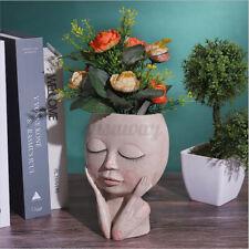 Nordic Art Portrait Flower Pot Vase Human Face Family Sculpture Plant Holder
