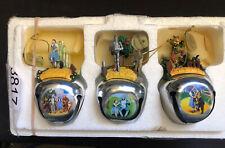 Ashton Drake Wizard of Oz Ornament Bells set 3 2007 Dorothy Tin Man Scarecrow