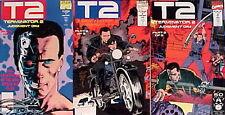 1990s Terminator 2:Judgement Day Movie Comic Book Set of 3-Marvel #1-3 UNREAD