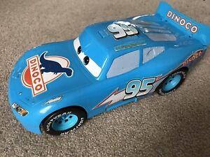 Mattel Disney Pixar Cars Dinoco LIGHTNING McQUEEN Large Toy Car