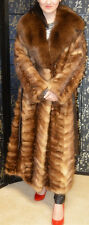 Final Sale!Stone marten fur coat with huge fox fur collar, Great conditon,sz M