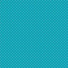 Baumwollstoff Pünktchen Türkis METERWARE Webware Popeline Stoff Dots