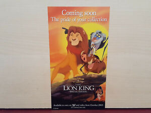 The Lion King / Beauty and the Beast - Walt Disney - Double Sided Leaflet  #W191