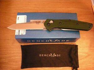 Benchmade 940 Osborne design Reversed Tanto Green Scales NIB Warranty