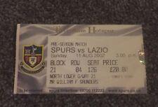 MATRICE del biglietto: pre Stagione amichevole Tottenham Hotspur v LAZIO 11/08/02