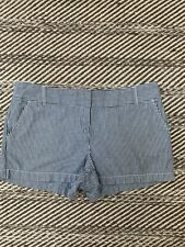 Dalia Collection Women's Striped Blue White Shorts Size 10 Modern Chino Fit