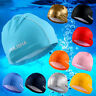 Women Men Adults Smooth Swimming Bathing Cap Hair Protection Hat Ears Elastic US